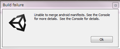Unable to merge android manifests