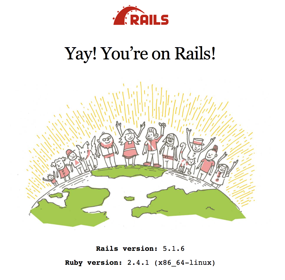 Ruby - Yay! You're on Rails! しか表示されない|teratail