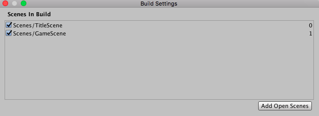 Build Settingsの設定